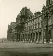 France Paris Musée Du Louvre Facade Ancienne Photo Stereo NPG 1900