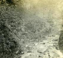 Suisse Alpes Montreux Gorges Du Chauderon Possemiers Ancienne Stereo Photo 1910 - Stereoscopic