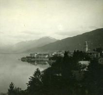 Italie Alpes Lac Majeur Pallanza Possemiers Ancienne Stereo Photo 1910 - Stereoscopic