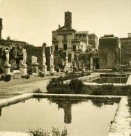 Italie Rome Forum Romain Maison Des Vestales Ancienne Photo Stereo NPG 1900 - Stereoscopic