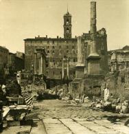Italie Rome Forum Romain Temple De Castor & Pollux Ancienne Photo Stereo NPG 1900 - Stereoscopic