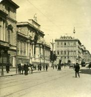 Italie Rome Via Nazionale Ancienne Photo Stereo NPG 1900 - Stereoscopic