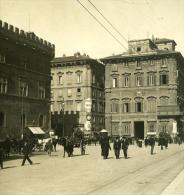 Italie Rome Piazza Venezia Ancienne Photo Stereo NPG 1900 - Stereoscopic