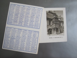 Calendrier 12 X 9 Cm : 1961 - Hesdin, La Breteche - Petit Format : 1961-70