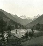 Allemagne Montagne Bavaroise Spielmannsau Ancienne Photo Stereo NPG 1900 - Stereoscopic