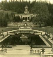 Allemagne Montagne Bavaroise Château De Linderhof Ancienne Photo Stereo NPG 1900 - Stereoscopic