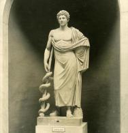 Italie Rome Vatican Musée Sculpture Esculape Ancienne Stereo Photo NPG 1900 - Stereoscopic