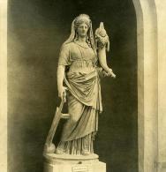 Italie Rome Vatican Musée Sculpture Fortune Ancienne Stereo Photo NPG 1900 - Photos Stéréoscopiques
