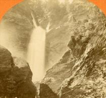 Suisse Cascade Du Reichenbach Ancienne Stereo Photo Jullien 1885 - Stereoscopic