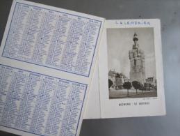 Calendrier 12 X 9 Cm : 1961 - Béthune, Le Beffroi (rajout Manuscrit Au-dessus De La Photo) - Calendriers