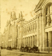 France Second Empire Paris Gare Du Nord Ancienne Stereo Photo 1868 - Stereoscopic