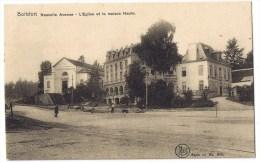 Watermael Watermaal Boitsfort Bosvoorde Boisfort Nouvelle Avenue église Et Maison Haute Animée  1908 - Watermael-Boitsfort - Watermaal-Bosvoorde