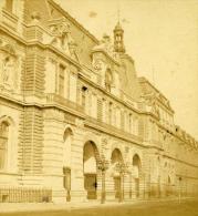 France Second Empire Paris Louvre Cour Du Carroussel Ancienne Stereo Photo 1868 - Stereoscopic