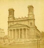 France Second Empire Paris Eglise Saint Vincent De Paul Ancienne Stereo Photo 1868 - Stereoscopic