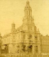 France Second Empire Paris Eglie De La Trinité Ancienne Stereo Photo 1868 - Stereoscopic