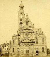 France Second Empire Paris Eglise St Etienne Du Mont Ancienne Stereo Photo 1868 - Stereoscopic
