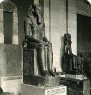 France Paris Musée Du Louvre Sculpture Ramses II Ancienne NPG Stereo Photo 1900 - Photos Stéréoscopiques