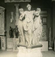 France Paris Musée Du Louvre Sculpture Groupe En Bois De Pilon Ancienne NPG Stereo Photo 1900 - Stereoscopic