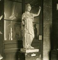 France Paris Musée Du Louvre Sculpture Minerve Ancienne NPG Stereo Photo 1900 - Stereoscopic