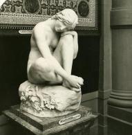 France Paris Musée Du Luxembourg Sculpteur Eugene Delaplanche Ancienne NPG Stereo Photo 1900 - Photos Stéréoscopiques
