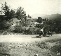 USA Colorado Jardin Des Dieux Touristes Ancienne NPG Stereo Photo 1900 - Stereoscopic