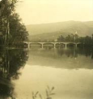 Italie Ligurie Riviera Chiavari Pont Sur La Riviere Entella Ancienne NPG Stereo Photo 1900 - Stereoscopic