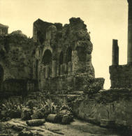 Italie Sicile Taormine Theatre Grec Ancienne NPG Stereo Photo 1900 - Stereoscopic