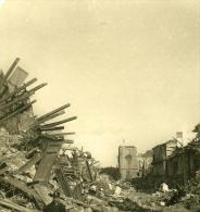 Italie Sicile Messine Tremblement De Terre Ruines Ancienne NPG Stereo Photo 1908 - Stereoscopic