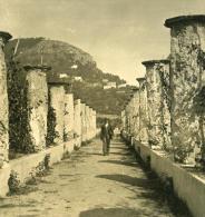 Italie Ravello Route De L Hotel Du Belvedere Ancienne NPG Stereo Photo 1900
