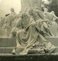 Italie Rome Villa Borghese Jardins Extérieur Ancienne NPG Stereo Photo 1900 - Photos Stéréoscopiques