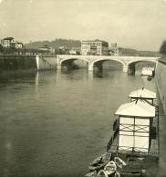 Italie Rome Pont Margherita Ancienne NPG Stereo Photo 1900 - Stereoscopic
