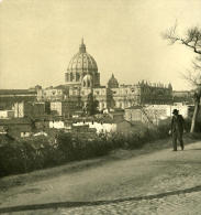Italie Rome Panorama Saint Pierre Ancienne NPG Stereo Photo 1900 - Stereoscopic