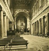 Italie Rome Eglise Sa Maria Travestere Ancienne NPG Stereo Photo 1900 - Stereoscopic