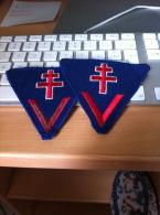 Ecussons Croix De Lorraine - Ecussons Tissu