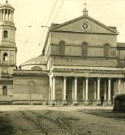 Italie Rome Eglise Saint Paul Facade Ancienne NPG Stereo Photo 1900 - Stereoscopic