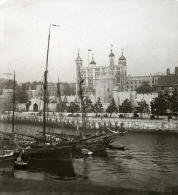 Royaume Uni Londres Tour De Londres Thames Ancienne Rotary Stereo Photo 1900 - Stereoscopic