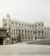 Royaume Uni Chateau De Windsor Panorama Ancienne Rotary Stereo Photo 1900 - Stereoscopic