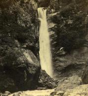 France Alpes Savoie Cascade Du Dard Ancienne Stereo Photo Adolphe Braun 1865 - Stereoscopic