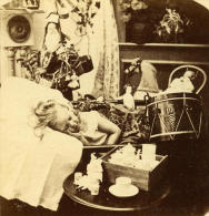 USA Le Reve Des Enfants Pere Noel Ancienne Popular Series Stereo Photo 1870 - Stereoscopic