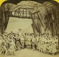France Paris Opera La Muette Habert Sculpture Ancienne Photo Stereo Tissue Block 1865 - Stereoscopic