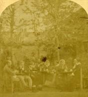 France Paris Halte à La Guinguette Ancienne Photo Stereo 1860 - Stereoscopic