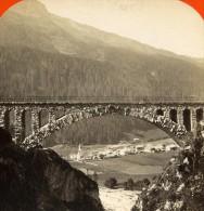 Autriche Pont De Waldli Tobel Uorailberg Ancienne Photo Stereo 1890 - Stereoscopic