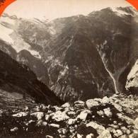 Italie Stilfs Stelvio Route De La Cabane Du Payeur Ancienne Photo Stereo Unterberger 1890 - Stereoscopic