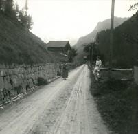 Suisse Lac De Thoune Route De Kienthal Ancienne Photo Stereo Possemiers 1920 - Stereoscopic