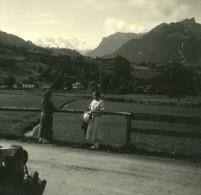 Suisse Lac De Thoune Reichenbach Ancienne Photo Stereo Possemiers 1920 - Stereoscopic