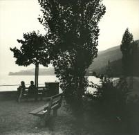 Suisse Lac De Thoune Oberhofen Ancienne Photo Stereo Possemiers 1920