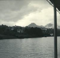 Suisse Lac De Thoune Spiez Ancienne Photo Stereo Possemiers 1920