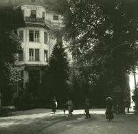 Suisse Lac De Thoune Spiez Ancienne Photo Stereo Possemiers 1920 - Stereoscopic