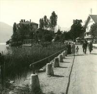 France Haute Savoie Lac D Annecy Duingt Ancienne Photo Stereo Possemiers 1920 - Stereoscopic