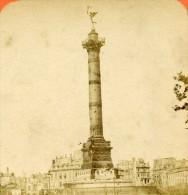 France Paris Ruines Place De La Bastille Ancienne Photo Stereo Block 1870 - Stereoscopic